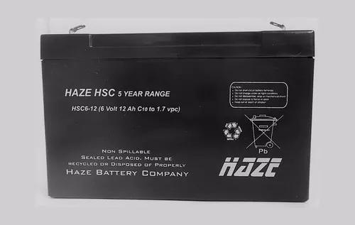 Bateria selada 6v 12a up6120 brinquedos 6 12 12ah haze hsc