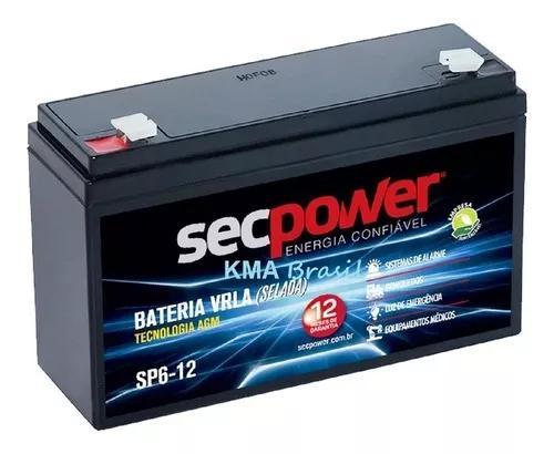 Bateria selada 6v 12ah sec power sp6-12 * motoca arduíno *