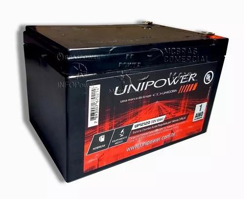 Bateria selada vrla gel 12v 12ah - tecnologia agm