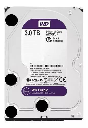 Hd 3tb Purple Sata 3 Western Digital Wd Cftv Dvr Wd30purz