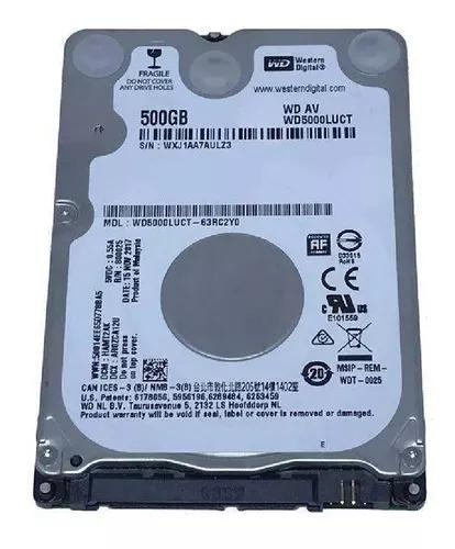 Hd 500gb notebook sata 3,0 gb/s western digital slim 7mm hdd