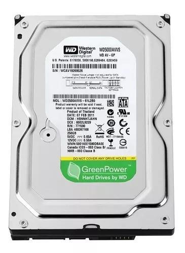 Hd 500gb sata desktop, pc, dvr western digital green