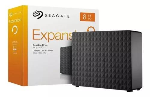 Hd externo portátil 8tb usb 3.0 seagate expansion