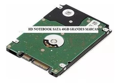 Hd notebook sata 40gb seagate samsung toshiba wd hitachi
