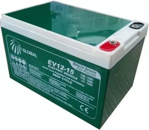 Kit 4 bateria recarregável 12v/15ah 20hr ciclo profundo +