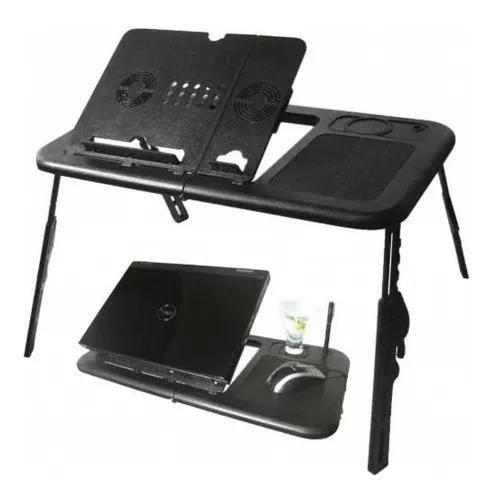 Mesa suporte notebook p/ cama base dobravel cooler mouse pad