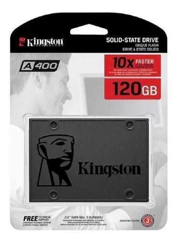 Ssd 120 gb sata 3 kingston a400 - 500 mb/s + cabo de dados