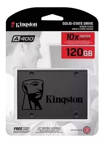 Ssd 120gb sata3 kingston a400 500mb/s compativel pc e note