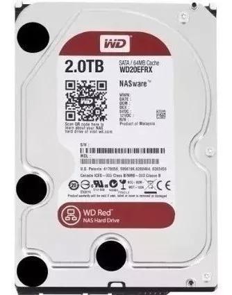 Wd red 2tb nas hard drive: 3.5'' sata 3, 64 mb - wd203fax