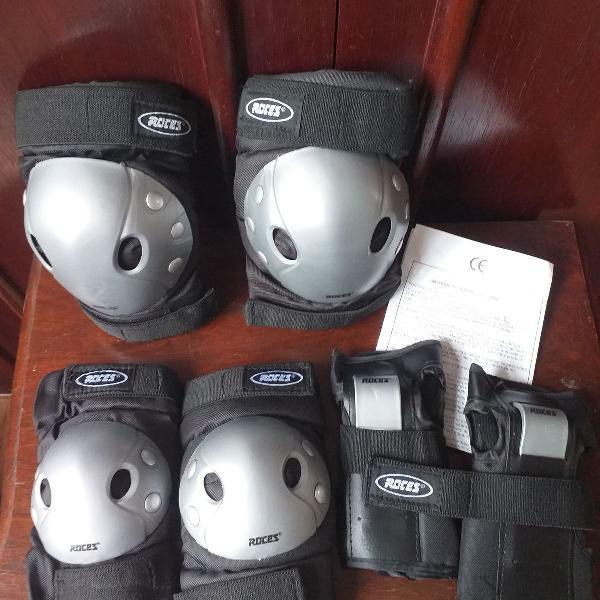 Kit de proteção para esportes roces tam. m