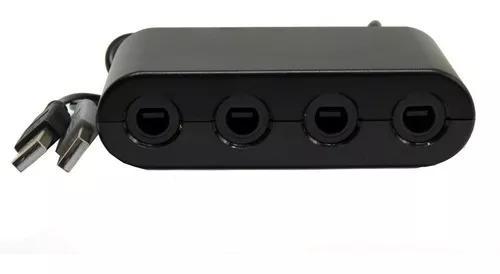 Adaptador retro hub controle gamecube nintendo switch novo
