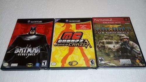 Batman + mc groovz dance game cube + jogo play 2 novo.