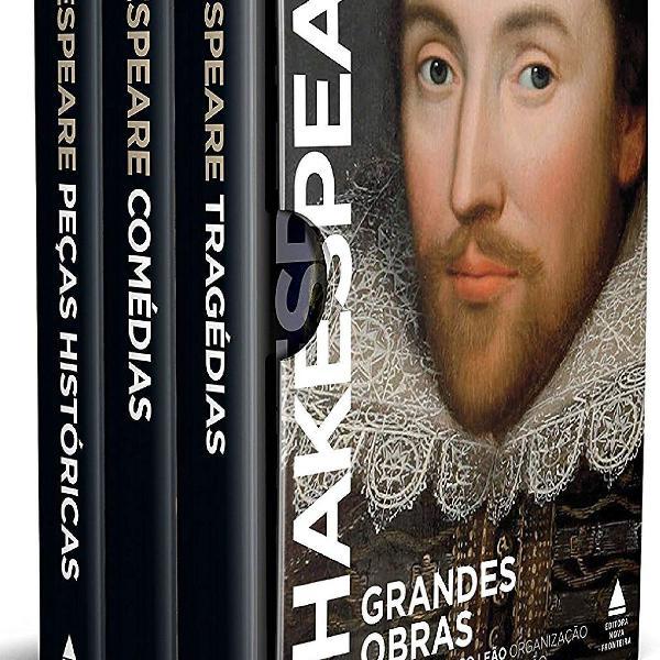 Box 3 livros . grandes obras de shakespeare . capa dura