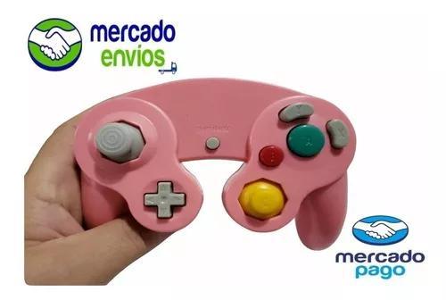 Controle game cube gamecube e nintendo wii rosa salmão