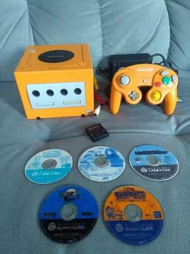 Game cube laranja completo - leia