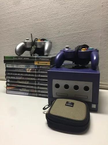 Gamecube + 2 controles + 10 jogos + 2 m