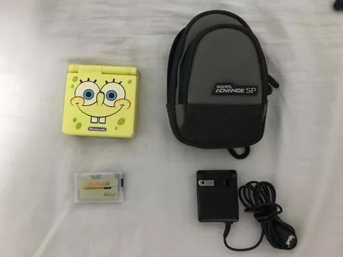 Gba game boy advance sp bob esponja raro + ez-flash iv