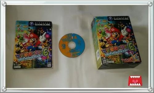 Jogo mario party 6 original japonês game cube (c/