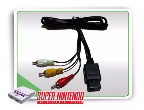Kit 1 controle snes + 1 cabo av super nintendo gamecube n64