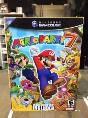 Mario party 7 c/mic gamecube novo lacrado americano