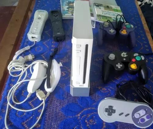 Nintendo wii / gamecube cabo componente com controles