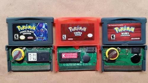 Pokémon ruby, fire red, chaos black gba paralela salvando
