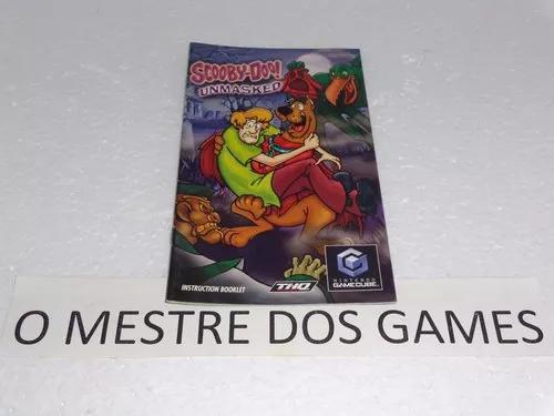 Somente o manual do jogo scooby-doo unmasked para game cube