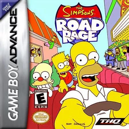The simpsons road rage gameboy advance gba original