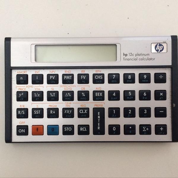 Calculadora financeira hp