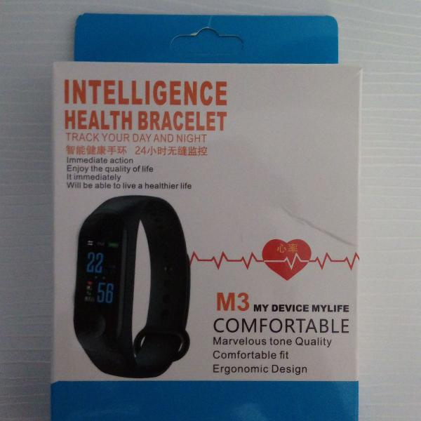 Relogio inteligente m3 monitor cardiaco