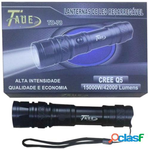 Lanterna Tática Led Recarregável CREE Q5 15000W/42000 Lúmens TD-78