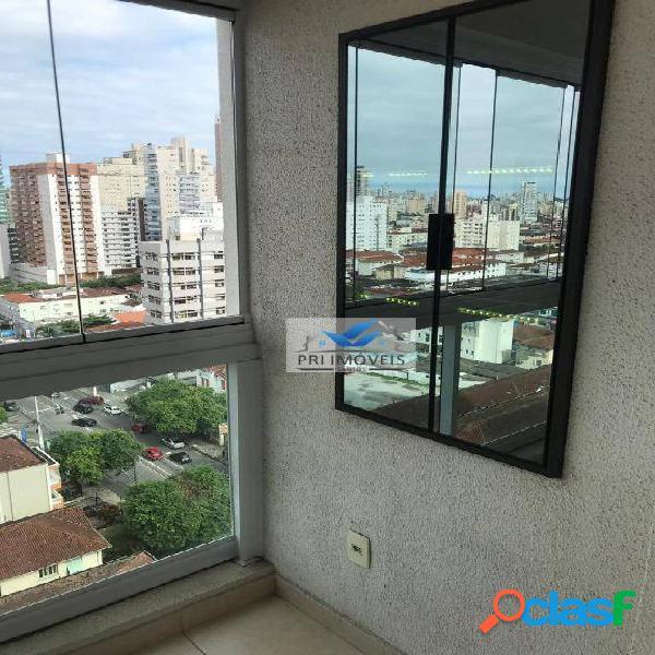 Apartamento para alugar, 47 m² por R$ 2.900,00/mês - Boqueirão - Santos/SP