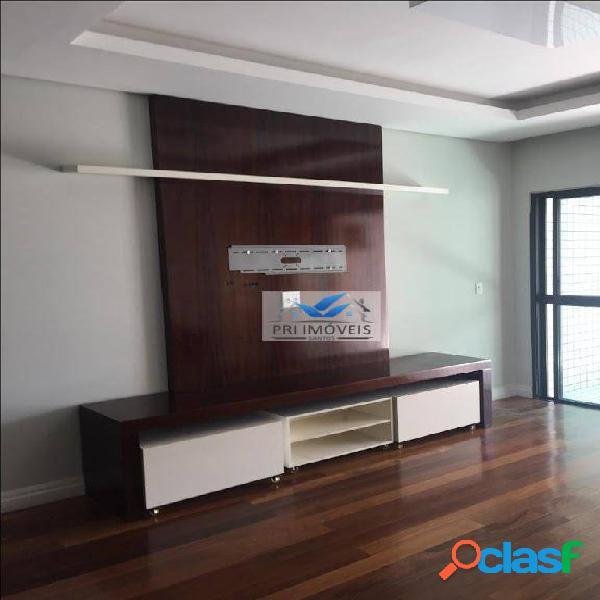 Apartamento à venda, 131 m² por r$ 745.000,00 - pompéia - santos/sp