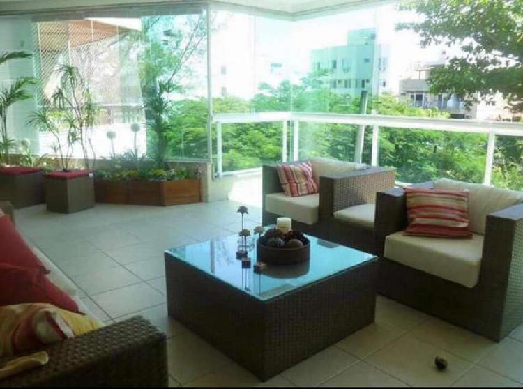 Alugo apartamento no recreio, 125m², 03 quartos, 02 vagas