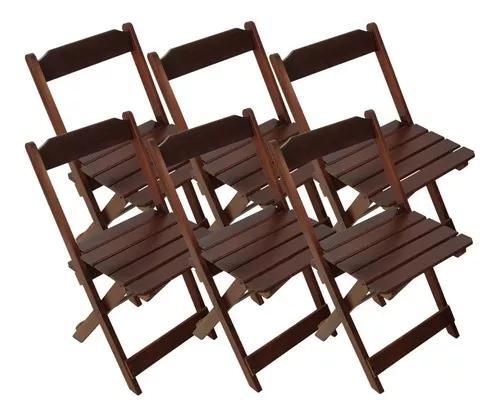 6 cadeiras dobrável bar e restaurante madeira maciça preto