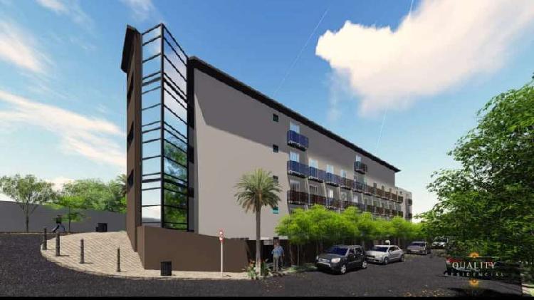 Apartamento 35 m², 1 dormitório, elevador, salão de