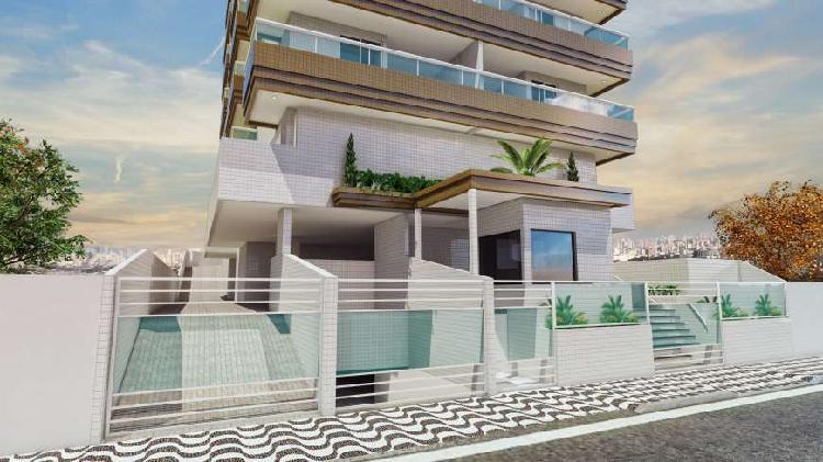 Apartamento de 2 dormitórios na guilhermina - praia grande