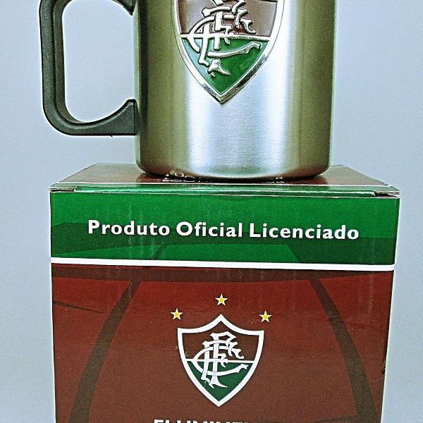 Caneca inox fluminense tricolor 350ml produto original e