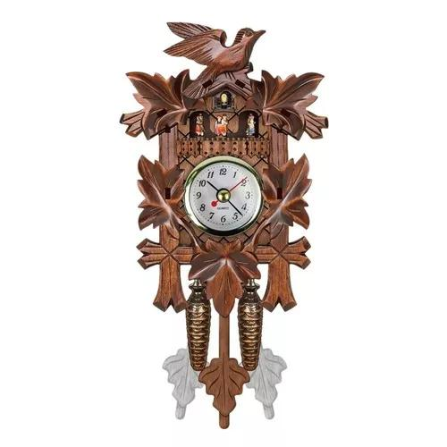 Cuco relógio parede suspensão madeira pássaro decoraçõe