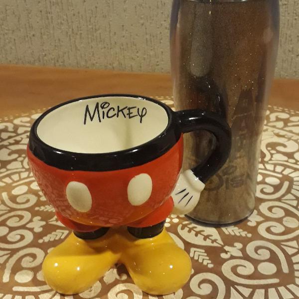 Disney caneca mickey e copao c gliter