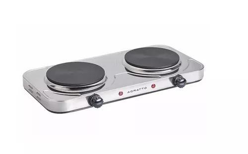 Fogão elétrico aço inox 2 bocas mesa cooktop 2000w