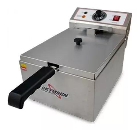 Fritadeira elétrica industrial skymsen, 5,5l. inox, fe-10-n