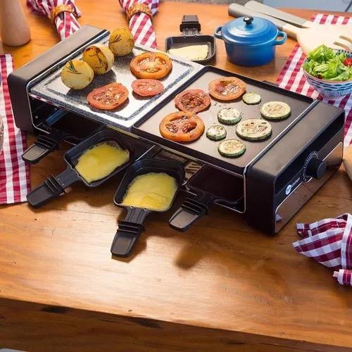 Grill raclette elétrica 8 pessoas fun kitchen 110/127v