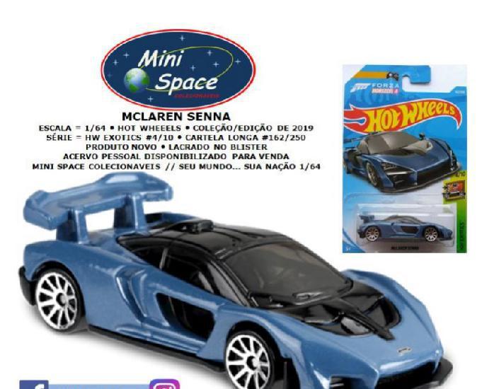 Hot wheels mclaren senna cor azul 1:64