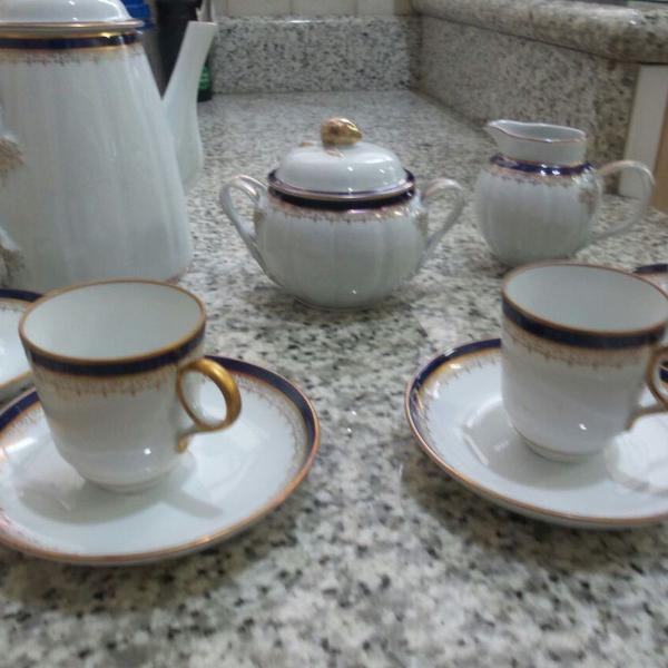 Jogo café porcelana fina portuguesa- porcel 15 pçs