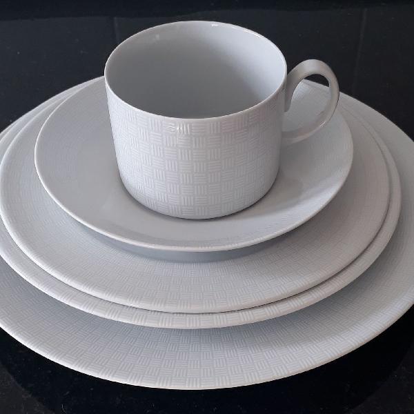 Jogo de jantar de porcelana da vista alegre