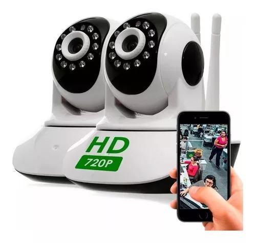 Kit 2 câmera segurança ip hd 720 s