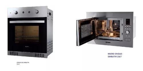 Kit fogatti forno 57lt + micro ondas 23lt