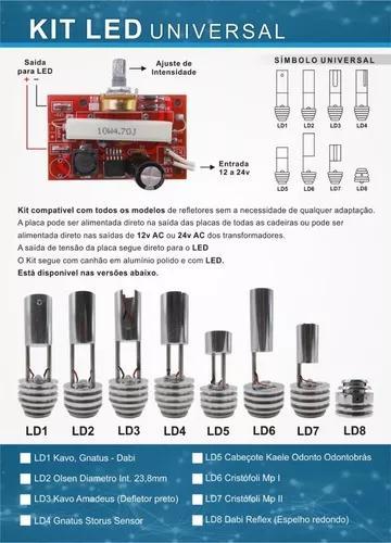 Kit led refletores odontologicos todas as marcas