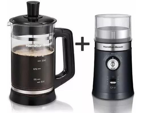 Kit moedor de café+cafeteira prensa hamilton beach 127v